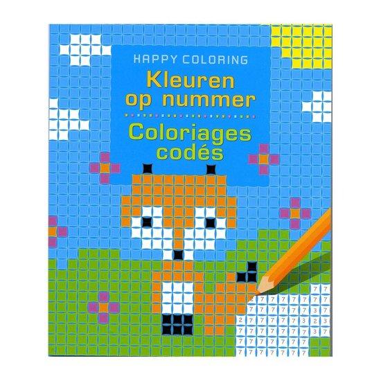 Kleuren op nummer, coloriages codes