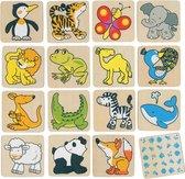 Goki Geheugenspel wilde dieren 32 delig