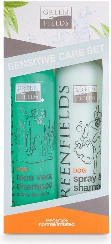 Greenfields - Hondenshampoo - Gevoelige huid - Verzorgingsset - 2 x 250 ml