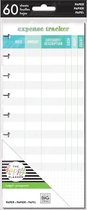Me and My Big Idea's - Happy Planner Medium Half Sheets - Expense Tracker - 60sheets