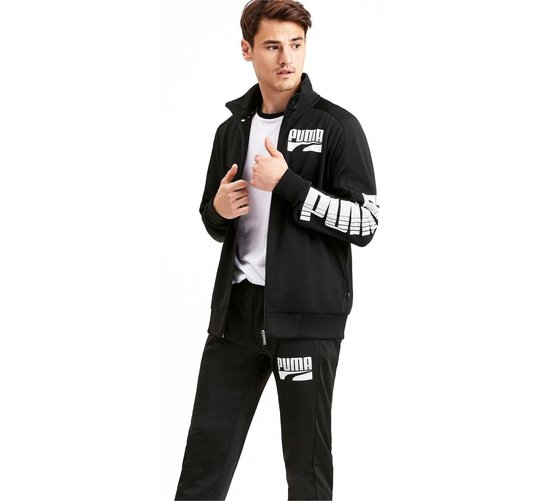 bol.com | Puma Trainingspak - Maat XXL - Mannen - zwart/wit