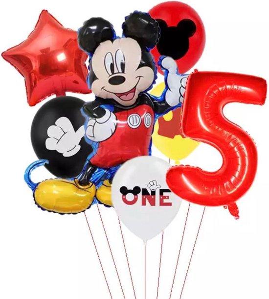 Disney Mikey Folie Ballonnen Set Mickey Mouse Ballon 7 stuks Verjaardagsfeestje Decoratie - 5  jaar