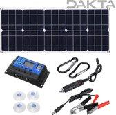 Dakta® Zonnepaneel   Compact Zonnepaneel   18V   100W   Draagbaar   Powerstation   Generator   Zonnepanelen   Complete set   Voor auto, boot en camper
