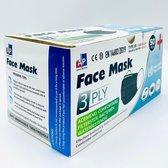 200 stuks - An Phu Wegwerp 3laags gezichtsmaskers - mondmasker - mondkapje (zwart)