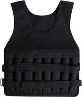 Gewichtsvest 20kg En Weight Vest - Gewichtsvesten - Gewichtsvest Hardlopen - Gewichtsvest Verstelbaar - Zwart - Flanner®
