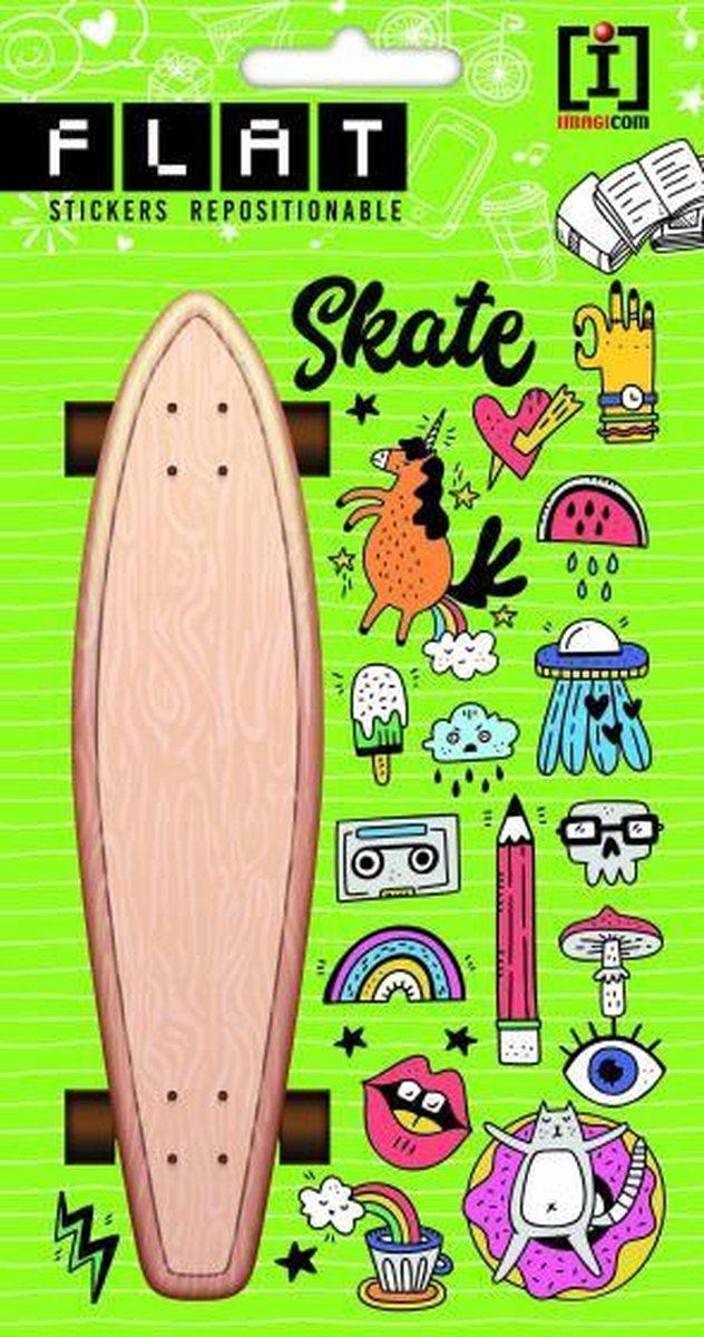 stickervel Skate junior 19 x 10 cm papier beige