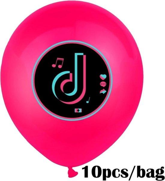 Tik tok Ballonnen 10 Stuks Wit/Verjaardagsfeest/Themafeest