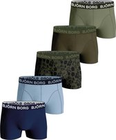 Björn Borg Boxershort Core - Onderbroeken - 5 stuks - Jongens - Maat 158-164 - Groen, Blauw & Print