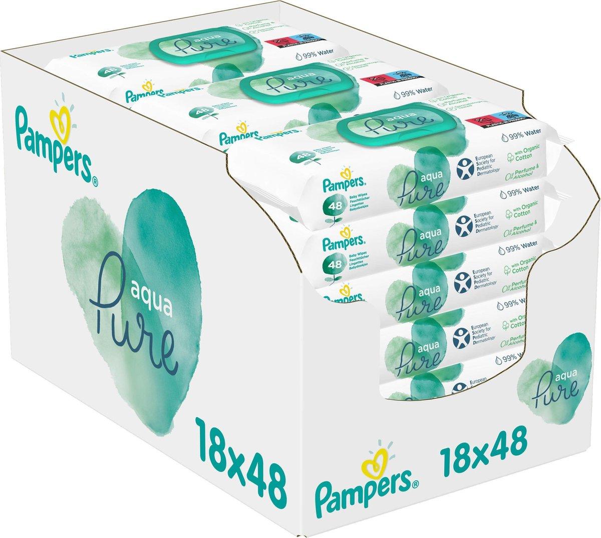 Pampers Aqua Pure Billendoekjes - 864 stuks - Pampers