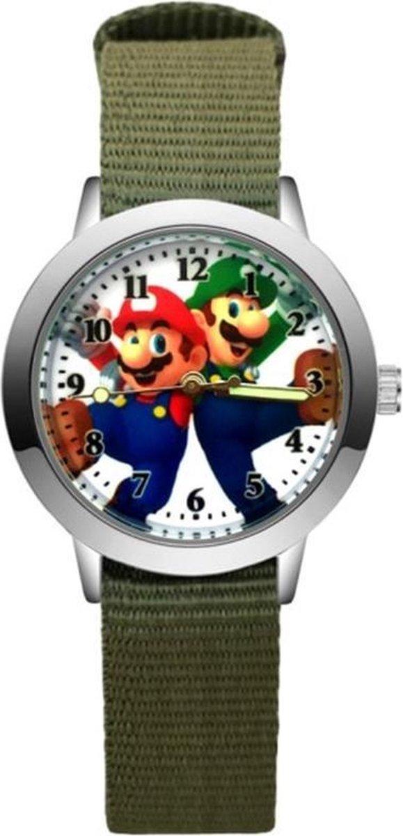 Super Mario - Kinderhorloge - Mario - Horloge - Mario Kart - Mario Speelgoed - Groen