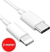 DutchOne USB-C naar Lightning kabel 2 meter geschikt voor Apple iPhone (12) & Ipad - oplader kabel - lader - 1-PACK