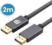 Vues Displayport 1.4 Kabel 2 Meter - Displayport naar Displayport - Ondersteund 4K 60HZ / 2K 144HZ