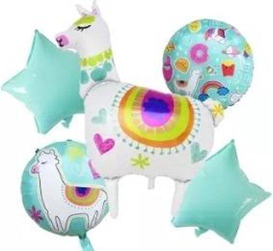 Ballonboeket Lama, 5 delig Kindercrea