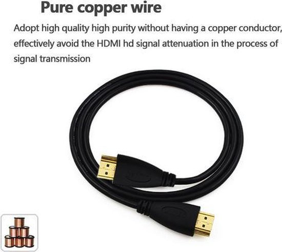 HDMI kabel 50cm Gold Plated High Speed male-male / 1080P 3D support - HaverCo