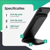 SAMMIT® Draadloze Qi Snellader (2020) - Draadloze Oplader Iphone - Wireless Charger Samsung - Fast Charger