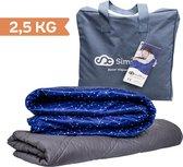 Verzwaringsdeken Kind 2,5KG Weighted Blanket Kinderen - Beter slapen- Oeko Tex Keurmerk –Sterren - 100x150