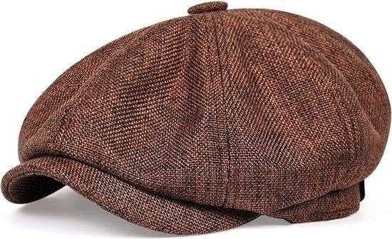 Peaky Blinders Cap - Flat Caps Heren - Heren Pet - Baret Heren - Heren Kleding - Tommy Shelby - Cadeau Man - Bruin - One Size