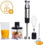CuisiNoon® 5-in-1 Premium Staafmixer Set - Inclusief GRATIS Kookworkshop, Melkopschuimer en Extra's