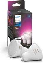 Philips Hue Slimme Lichtbron GU10 Spot Duopack - White and Color Ambiance - 5,7W - Bluetooth - 2 Stuks