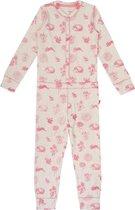Claesen's onesie pyjama meisjes - Pink Autumn - maat 128-134