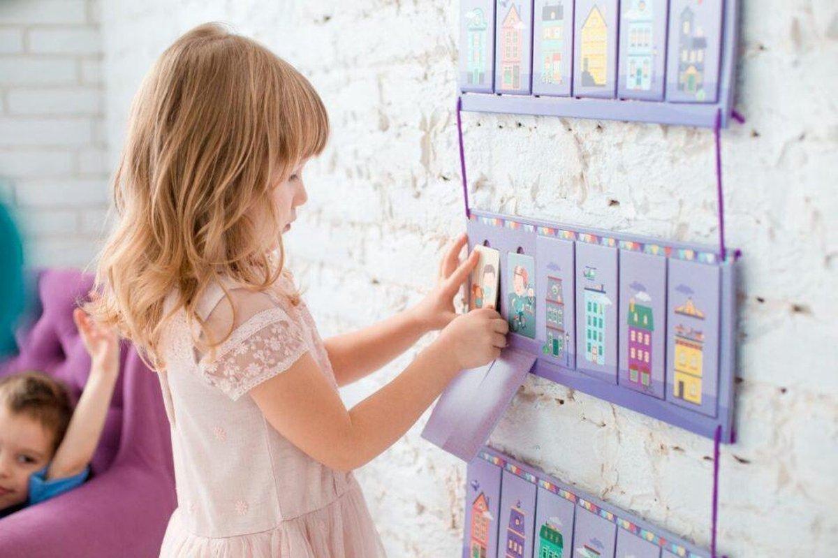 OKID Dagplanner voor Meisjes - Planbord kind met 100 Kaarten - Pictogrammen voor Kinderen met activiteiten en taken - Beloningssysteem - Montessori Speelgoed - Educatief Speelgoed - Dagritme - Dagplanner Kind