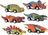 Tasia Jurassic Dino Racers - Dinosaurus Speelgoed Auto Set Jongens - Set van 6