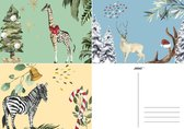 Joons kerstkaarten set van 18 luxe A6 kaarten - kerstkaart kerstkaarten luxe kerstkaarten nieuwjaarskaarten