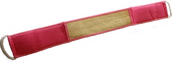 SkinCleanAndCo -Loofah baddoek - Loofa - Lichaamsborstel -Loofa spons - Badspons - 8*68 cm- Rose