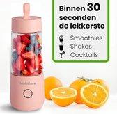 Draagbare Mini Blender - Blender To Go - Blender Smoothie - USB Oplaadbaar - Draadloos - Compact - Mobstore - Smoothies - Fruit - Mixer - Blender - Roze - Peach Pink - 350ml