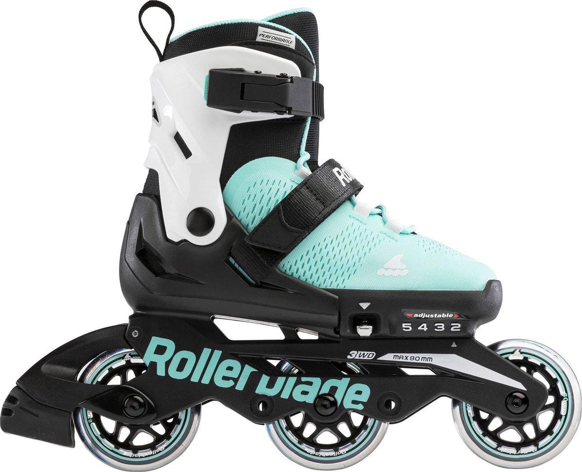Rollerblade Microblade 3WD Inlineskates - Maat 36-40 - Unisex - zwart - mint groen - wit