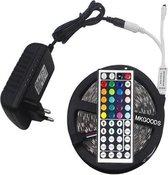 RGB led strip MKGOODS - 5m - Incl afstandbediening en voeding met 44 knoppen