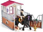 Schleich Horse Club - Paardenstal met Horse Club Tori & Princess - Speelfigurenset - Kinderspeelgoed voor Jongens en Meisjes - 5 tot 12 jaar - 14 Onderdelen