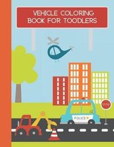 Vehicle coloring book for toodlers