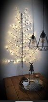 Countryfield Decoratieve LED-Boom Kerstboom van LED-verlichting voor aan de muur 100 x 120 cm   136 LED's