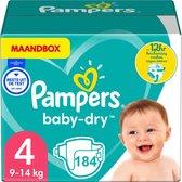 Pampers Baby Dry - Maat 4 - Maandbox - 184 luiers