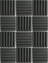 PrimeAmbition Geluidsisolatie – 30 x 30 x 5 cm – Akoestische Panelen – Geluidsdemper – Studioschuim – Geluidsisolatieplaten –  Acoustic Foam Panels – 12 stuks