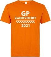 T-shirt oranje GP Zandvoort 2021   race supporter fan shirt   Grand Prix circuit Zandvoort   Formule 1 fan   Max Verstappen / Red Bull racing supporter   racing souvenir   maat XL