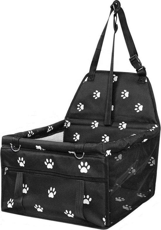 DogSeat Hondenmand Auto - Autostoel Hond Zwart - Autozitje Hond - Kleine tot Middelslag Hond - Automand Hond - Waterdicht en Opvouwbaar