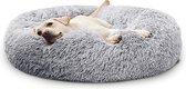 Donut Hondenmand XXL - Zacht Pluche Hondenmanden - 100 x 100cm - Antislip - Grijs