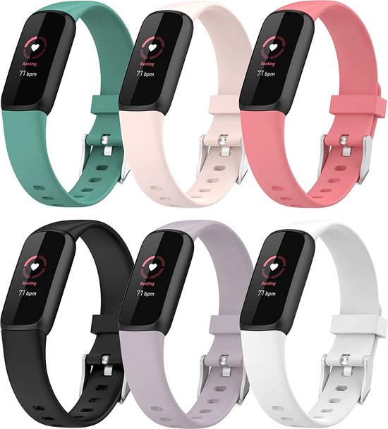 YONO Siliconen Bandjes - Fitbit Luxe - 6-Pack - Small