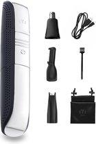 EYSLife Neustrimmer - Met 3 Opzetstukken - USB Oplaadbaar - Waterdicht - Geschikt Als Oortrimmer en Wenkbrauw Trimmer - Mannen en Vrouwen - Zilver