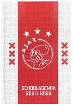 Ajax Schoolagenda 2021/2022 - Wit/ Rood - Gebonden - Leeslijntje - 7 dagen op 2 pagina's - Harde Kaft - A5 Formaat