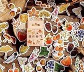 Bullet Journal Stickers - Planner Agenda Stickers - 46 Stuks - Herfst - Bladeren - Planten - Botanisch - Scrapbook stickers - Laptop stickers - Telefoon stickers - Bujo stickers - Stickers volwassenen en kinderen - Multi Color
