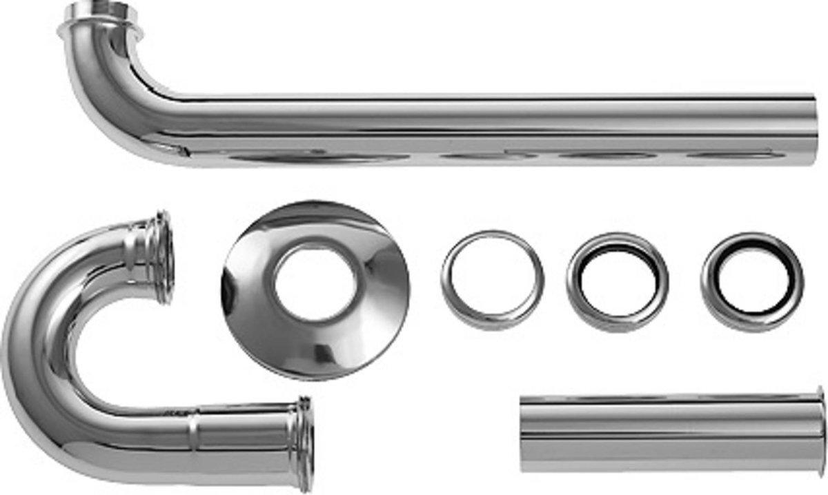 Duravit Starck buissifon 1 1/4 inch s met afvoerbuis 30 cm.