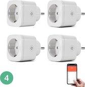 BELIFE Slimme stekker - Incl. energiemeter - Google Home & Amazon Alexa Compatible - 4 stuks