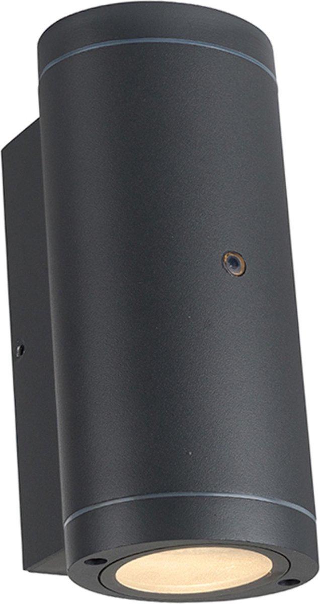 Proventa AllWeather Outdoor Wandlamp met sensor - Dubbele spot - Antraciet