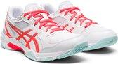 Asics Gel-Rocket 10 Sportschoenen - Maat 40 - Vrouwen - Wit - Rood/Oranje - Mint groen