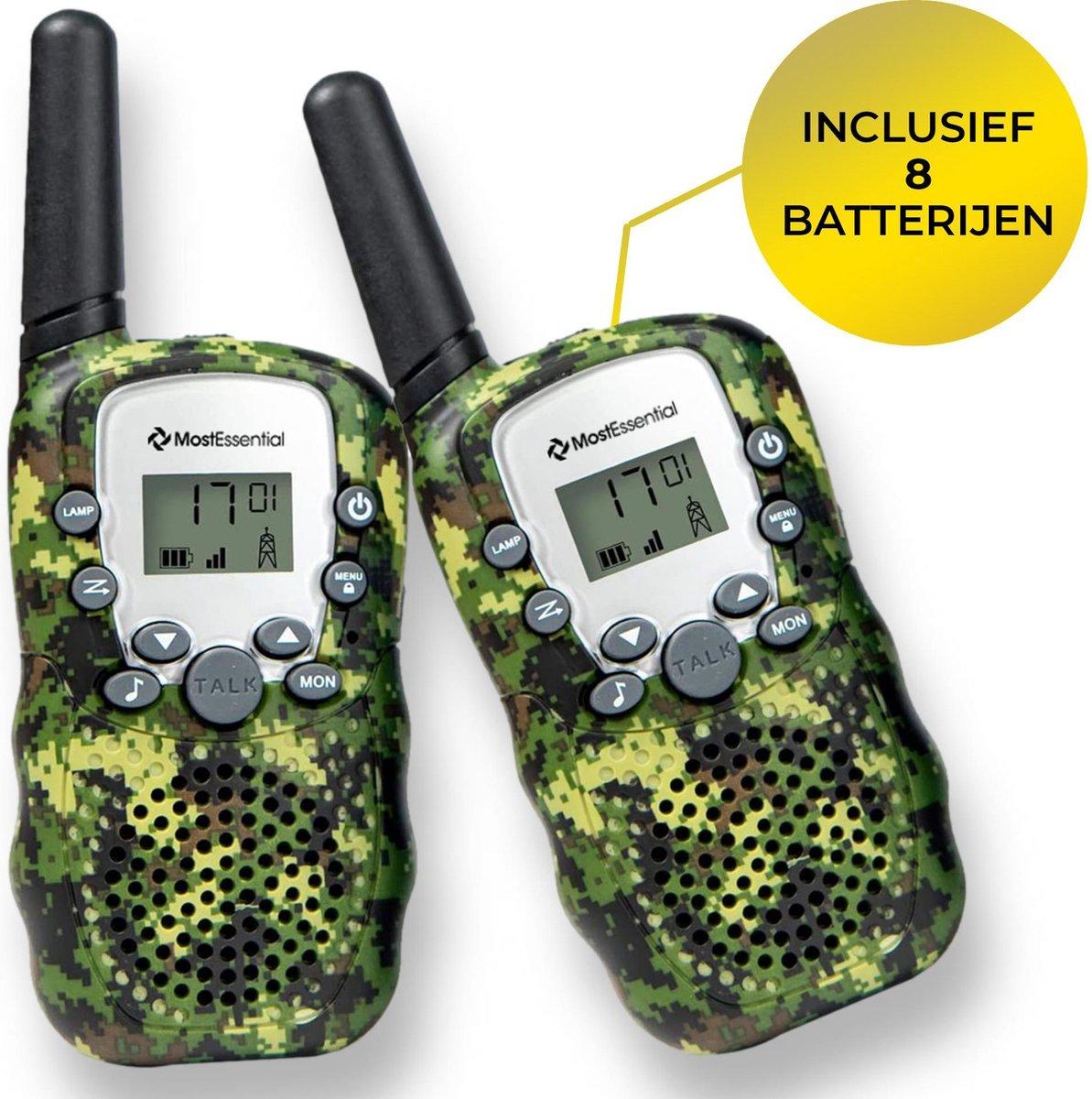 MostEssential Premium Walkie Talkie voor Kinderen - Walkie Talkie - Portofoon - Inclusief 8 Batterijen - Groen