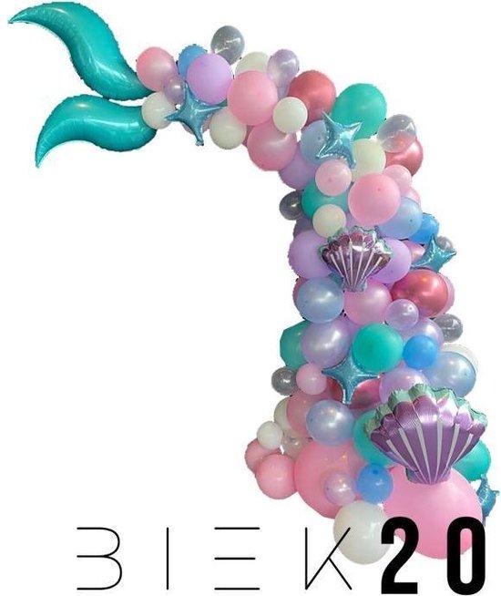 Ballonnenboog - Zeemeermin - Mermaid - 96 ballonnen - BIEK20 - Feestversiering - Partydecoratie - Themafeest - Kinderfeest - Verjaardag