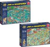 Jan van Haasteren Puzzelbundel Hockey Kampioenschappen & WK Vrouwenvoetbal puzzel - 2x 1000 stukjes